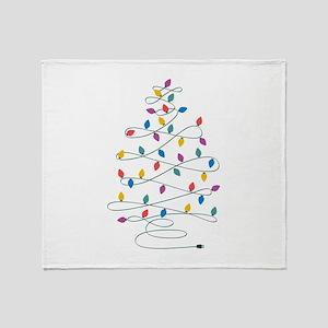 Christmas Lights Throw Blanket