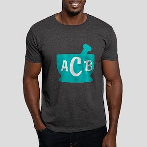 Teal Monogram Mortar and Pestle Dark T-Shirt