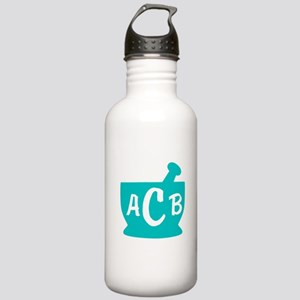 Teal Monogram Mortar a Stainless Water Bottle 1.0L