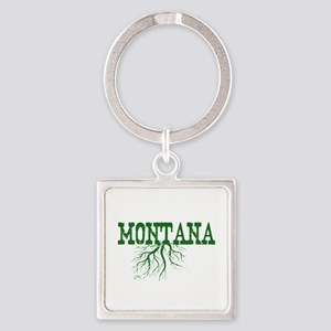 Montana Roots Square Keychain
