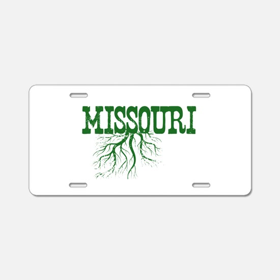 Missouri Roots Aluminum License Plate
