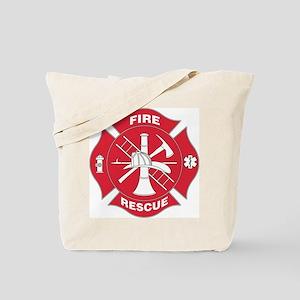 Red Maltese Cross - Tote Bag