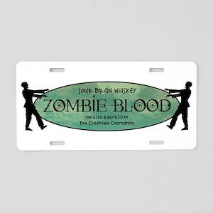 ZOMBIE BLOOD Aluminum License Plate
