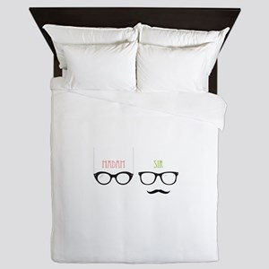 Madam Sir Glasses Queen Duvet