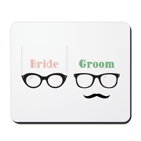 Bride Groom Glasses Mousepad by Concord25