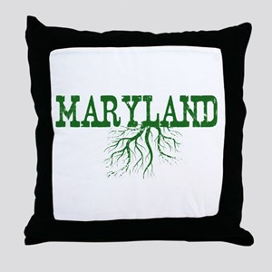 Maryland Roots Throw Pillow