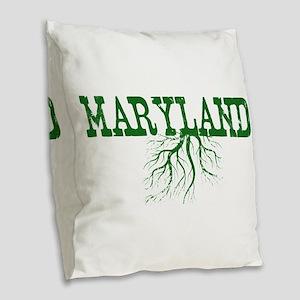 Maryland Roots Burlap Throw Pillow