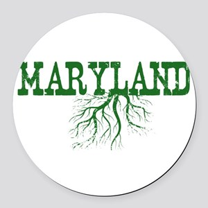 Maryland Roots Round Car Magnet