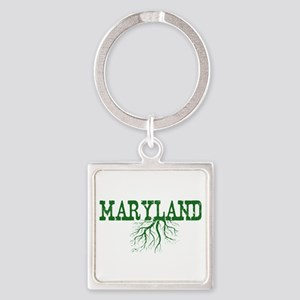 Maryland Roots Square Keychain