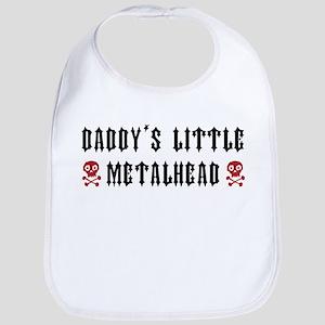 Daddy's Little Metalhead Baby Bib