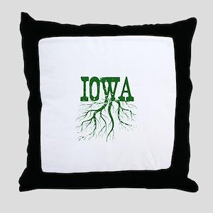 Iowa Roots Throw Pillow