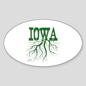 Iowa Roots Sticker (Oval)