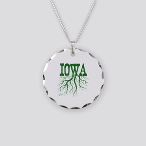Iowa Roots Necklace Circle Charm