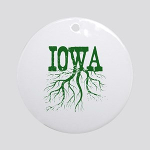 Iowa Roots Ornament (Round)