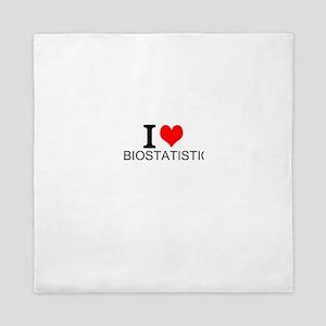 I Love Biostatistics Queen Duvet