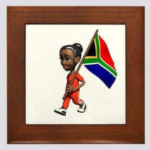 South Africa Girl Framed Tile