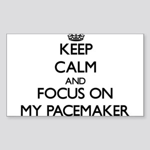 Keep Calm and focus on My Pacemaker Sticker