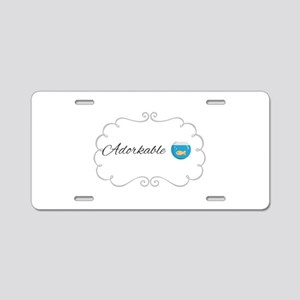 Adorkable Aluminum License Plate