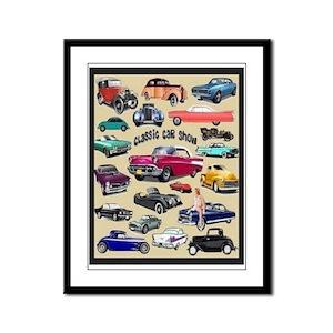 Car Show Framed Panel Print