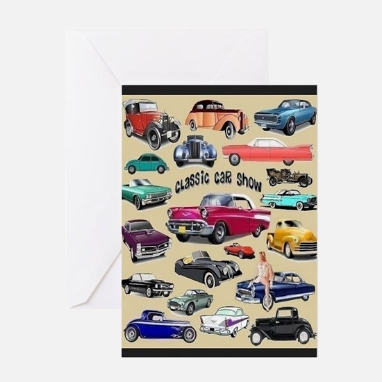 Car Show Card Greeting Cards