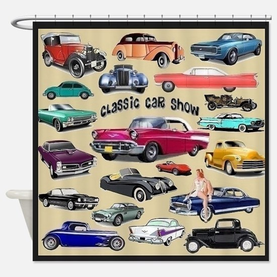 Classic Car Firebird Shower Curtains | CafePress
