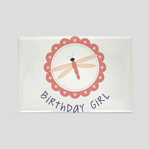 Dragonfly Birthday Girl Magnets