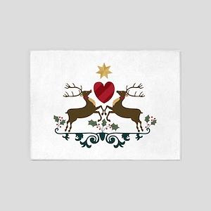 Reindeer Crest 5'x7'Area Rug