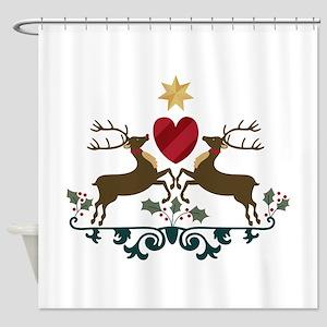 Reindeer Crest Shower Curtain