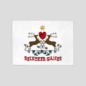 Reindeer Games 5'x7'Area Rug