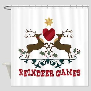 Reindeer Games Shower Curtain
