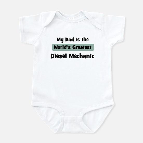 Worlds Greatest Diesel Mechan Infant Bodysuit