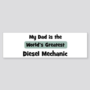 Worlds Greatest Diesel Mechan Bumper Sticker
