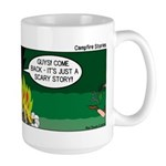 Scary Campfire Stories Large Mug