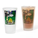 Scary Campfire Stories Drinking Glass