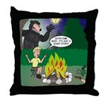 Scary Campfire Stories Throw Pillow