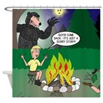 Scary Campfire Stories Shower Curtain