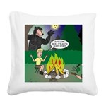 Scary Campfire Stories Square Canvas Pillow