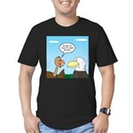 Turkey and Eagle PR Men's Fitted T-Shirt (dark)
