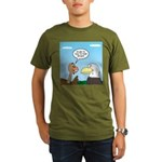 Turkey and Eagle PR Organic Men's T-Shirt (dark)