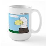 Turkey and Eagle PR Large Mug