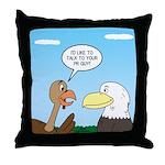Turkey and Eagle PR Throw Pillow
