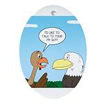 Turkey and Eagle PR Ornament (Oval)