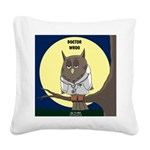 Doctor Whoo Square Canvas Pillow