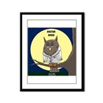 Doctor Whoo Framed Panel Print