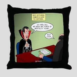 Dracula Life Insurance Throw Pillow