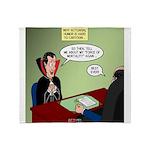 Dracula Life Insurance Throw Blanket