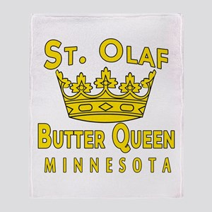 St Olaf Butter Queen Throw Blanket