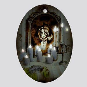Mary's in the Mirror Ornament (Oval)