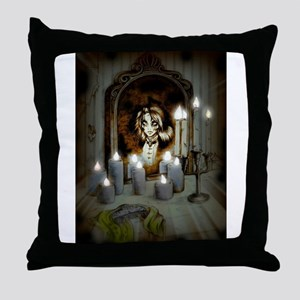 Mary's in the Mirror Throw Pillow