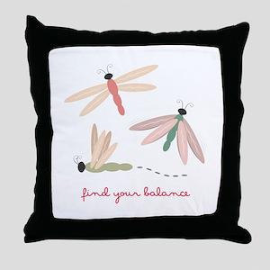 Dragonfly Balance Throw Pillow